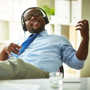 music in workplace tune in tune out 300x300 - A Desk Life