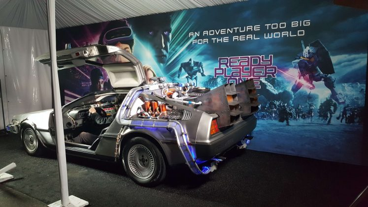 back-to-the-future-delorean-ready-player-one-event-challenge-hollywood